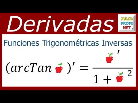 Derivadas de funciones trigonométricas inversas y ejemplos