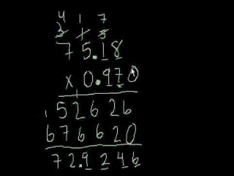 Moltiplicazione 8 - Moltiplicare i decimali (Vecchio video)
