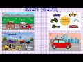 Фрагмент с конца видео - Машинки.Такси. Сборка машины. Развивающие мультики для маленьких. Cars for Kids. Taxi. Construction.