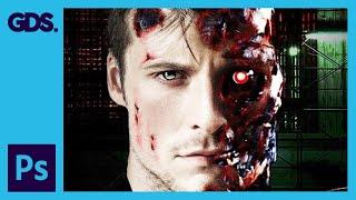 Terminator Photoshop Tutorial: Layer Masking, Blending Modes & More
