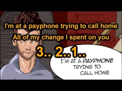 Maroon 5 - Payphone ft.Wiz Khalifa - LYRICS KARAOKE/INSTRUMENTAL