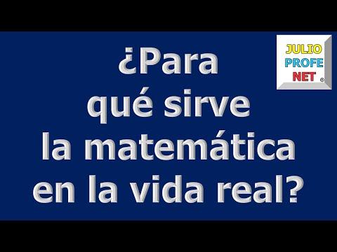 Mensaje 1 de Julioprofe: ¿Para qué sirve la matemática en la vida real?