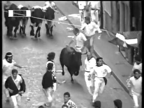Encierro San Fermin Pamplona del dia 10 7 1988 RE