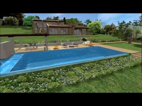 Progettazione paesaggistica del parco di una villa moderna for Progettazione paesaggistica