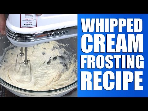 Easy Whipped Cream Frosting Recipe