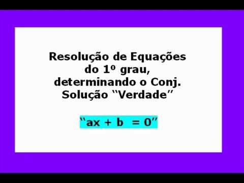 """Equação do 1º Grau """"Resolução"""""""