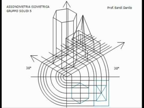Assonometria isometrica gruppo solidi 5
