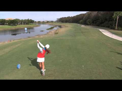 GOLF SWING 2012 - HEE YOUNG PARK DRIVER - ELEVATED DOWN THE LINE & SLOW MOTION  - HQ 1080p HD