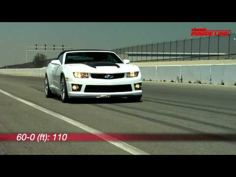 2011 Chevrolet Camaro SLP ZL1 Convertible Track Test Video