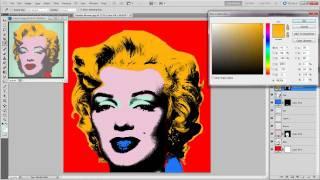 PhotoShop Basics - Andy Warhol silk screen