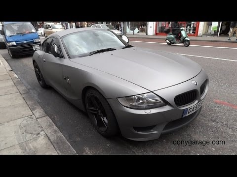 BMW Z4 M Coupe Matte Carbon Fiber Full Vehicle Wrap