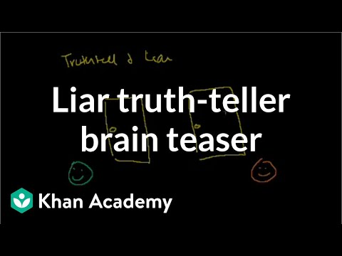 Liar Truthteller Brain Teaser