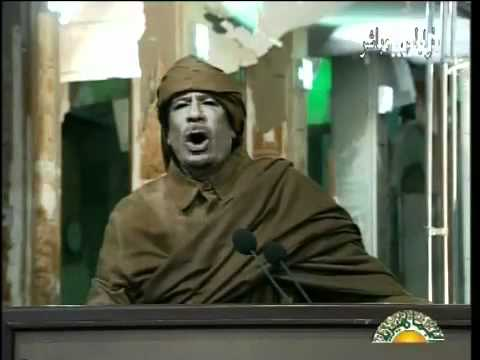 Muammar Gaddafi defiant speech (2011 Feb 22)