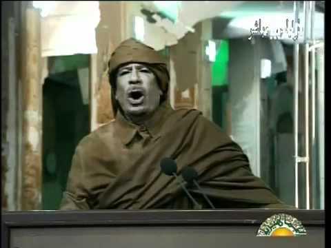 Muammar Gaddafi defiant speech (2011 Feb 22)