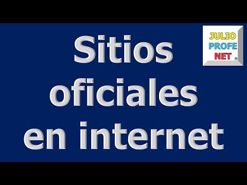 Mensaje 4 de Julioprofe: SITIOS OFICIALES EN INTERNET