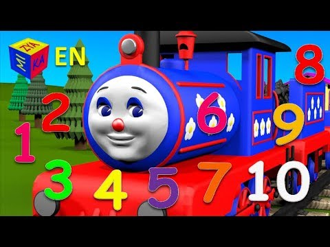 Cartoons for children kids toddlers. Learn to count to 10 with Choo-Choo Train.