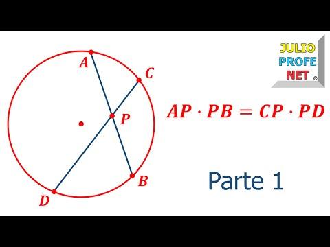 Cuerdas que se cortan en una circunferencia (Parte 1 de 2)