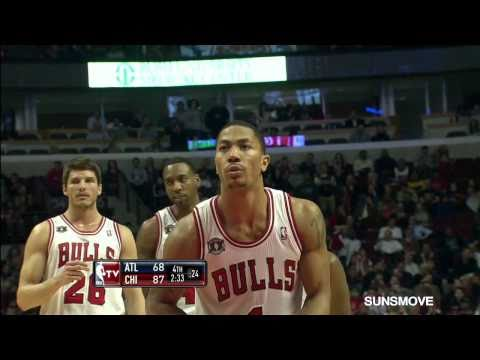 03-11-2011 Derrick Rose 34 Points Highlights vs Atlanta Hawks - (18 pts in 3rd Qtr., 5 ast.)