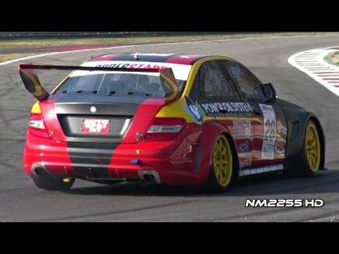 Mercedes C63 AMG Race Car Awesome Sound!