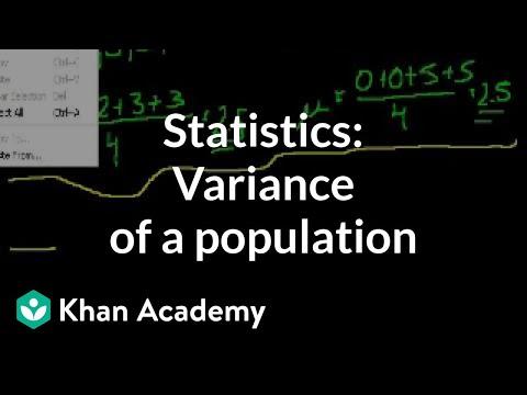Statistics: Variance of a Population