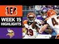 Bengals vs. Vikings | NFL Week 15 Game Highlights