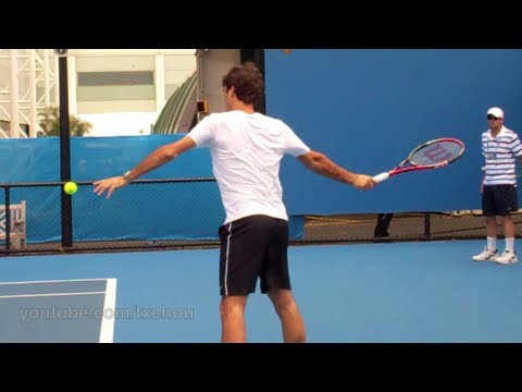 Roger Federer - Slow Motion Forehands in HD (Australian Open 2011)