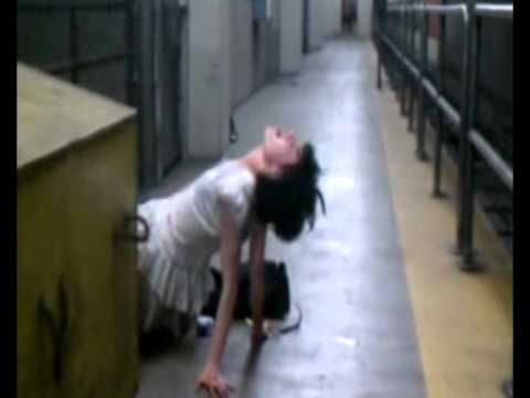 SCARY! Genuine Foorage of a Possessed Girl Found in Subway