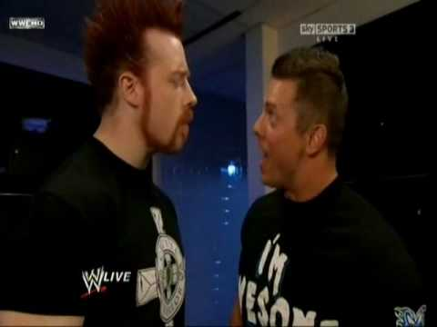 Sheamus meets The Miz in locker room (RAW 07 26 2010)