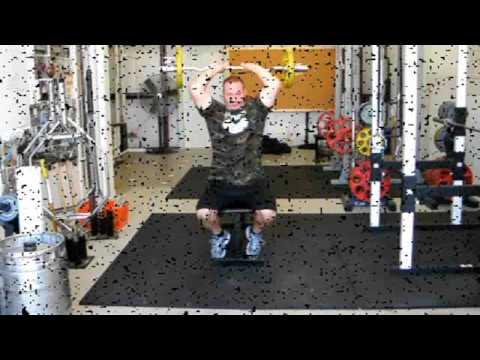 EZ Curl Bar Overhead Triceps Extensions