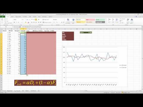 Forecasting with Exponential Smoothing in Excel