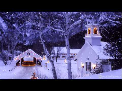 FREE motion backgrounds for Christmas - Church in the Snow HD