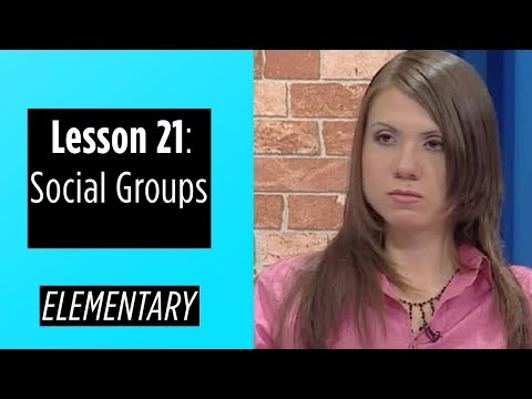 Elementary Levels - Lesson 21: Social Groups
