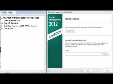 How To Activate Kaspersky 2012 Using Key File