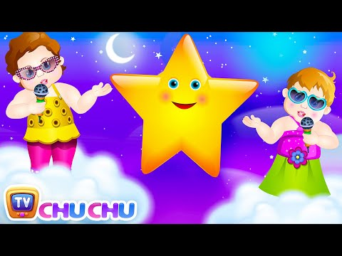 Twinkle Twinkle Little Star Song with Lyrics - English Nursery Rhymes Cartoon Animation