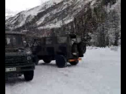 VM90 esercito sulla neve