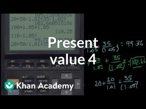 Present Value 4 (and discounted cash flow)