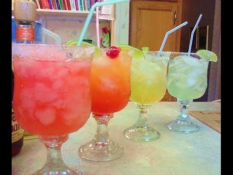 4 Margarita Recipes - Traditional, Frozen Strawberry, Italian and Tequila Sunrise - PoorMansGourmet