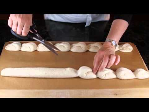 Shaping a dragon tail baguette