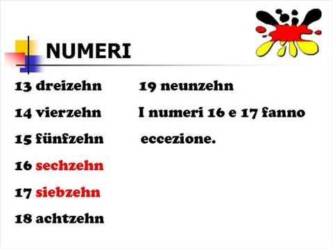 Lezioni di tedesco 6- numeri