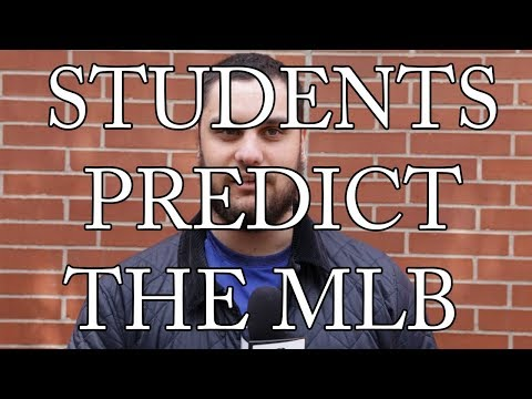 Sports Reporter Jamison White talks with a few UP students about how they think the upcoming MLB season is going to go.   Music by Bob Thorp