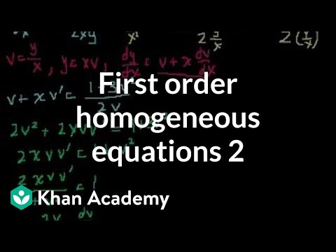 First order homogenous equations 2