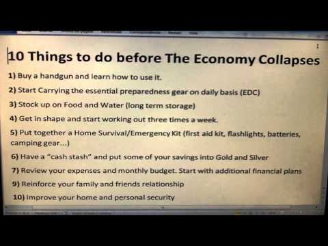 10 Things to do before The Economy Collapses