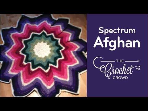 Crochet Round Afghan - Spectrum Afghan