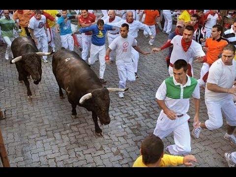 CUARTO ENCIERRO San Fermin 2012 | Toros ganadería El Pilar | 10/7/2012