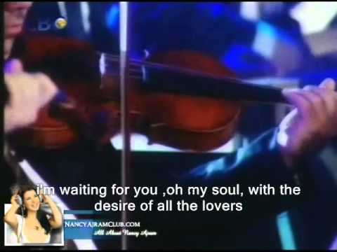 Nancy Ajram Mestaniak  English Subtitles Live نانسي  عجرم مستنياك طرب