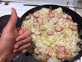 ОЧЕНЬ ВКУСНАЯ тушенная КАПУСТА с рисом и сосисками. Просто и бюджетно