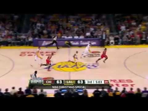 NBA Chicago Bulls Vs LA Lakers Game Recap 12/25/2011 - Rose Game Winner