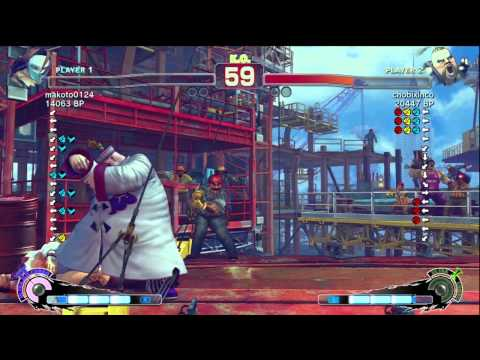 Makoto [Vega] vs chobixinco [Rufus] SSF4 Japanese Online Ranked Matches - TRUE-HD