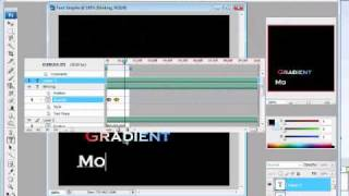 Tutorial: Adding text animation in Adobe Photoshop CS3