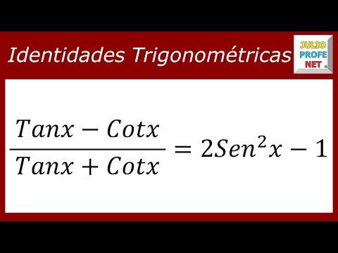 Demostración de una identidad trigonométrica